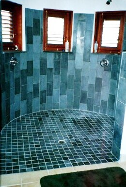 6 X 12 blue toned wall tile